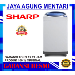 Harga mesin cuci sharp 1 tabung 9 kg es m906p gb gr | HARGALOKA.COM