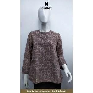 Harga blouse batik wanita motif kurma cokelat by negarawan   | HARGALOKA.COM