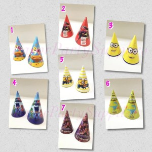 Harga party hats topi ulang tahun anak topi pesta karakter | HARGALOKA.COM