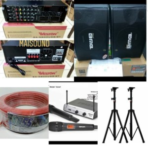 Harga paket speaker bmb sound system bmb 10 inch ampli usb   HARGALOKA.COM
