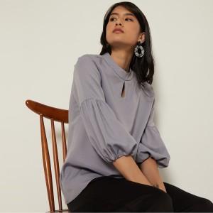 Harga cammomile blouse fashion wanita 1808033   grey | HARGALOKA.COM