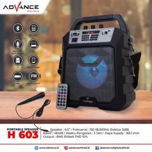 Harga speaker bluetooth mp3 advance h | HARGALOKA.COM
