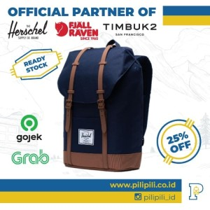 Harga tas herschel retreat original peacoat   saddle brown | HARGALOKA.COM