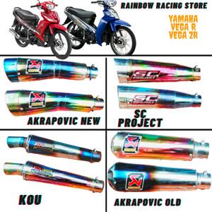 Harga knalpot racing yamaha vega zr dan vega r akrapovic sc project kou   | HARGALOKA.COM