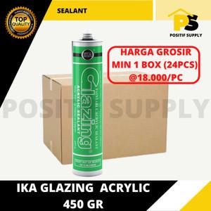Harga lem kaca silicone sealant ika glazing acrylic 450 gr grosir   | HARGALOKA.COM
