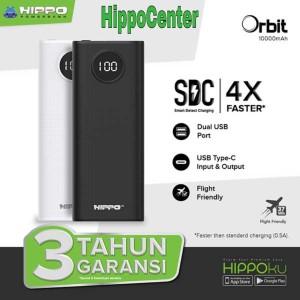 Harga hippo power bank orbit 10000mah smart detect charging 3 in 1   | HARGALOKA.COM
