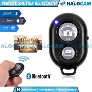 Harga remote shutter bluetooth for ios android smartphone foto selfie | HARGALOKA.COM