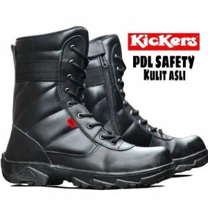Harga sepatu boots pria pdl ujung besi d pakai tentara   hitam | HARGALOKA.COM