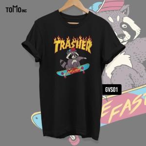 Harga kaos trasher tomoinc hype geek vol 6 t shirt dtg big size   | HARGALOKA.COM