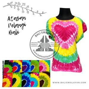 Harga atasan pelangi bali baju wanita kaos murah kaos pelangi   | HARGALOKA.COM