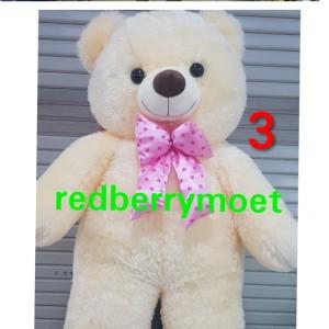 Harga boneka teddy bear super jumbo beruang super besar tedy bear jumbo   crem pita | HARGALOKA.COM