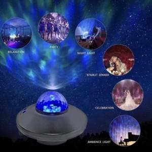 Harga lampu galaxy projector kamar 10 cahaya led laser light bagus | HARGALOKA.COM