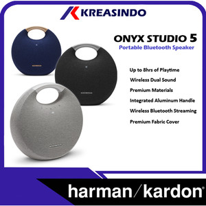 Harga harman kardon onyx 5 studio 5 bluetooth portable speaker resmi   | HARGALOKA.COM