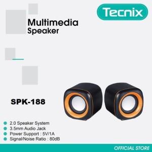 Harga speaker multimedia tecnix spk 188 portable for smartphone pc | HARGALOKA.COM