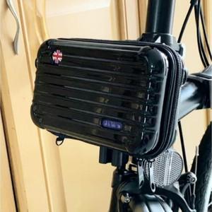 Harga tas front block mini koper sepeda lipat premium quality   model garis   HARGALOKA.COM