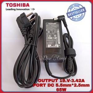 Harga adaptor charger original toshiba satellite l645 l640 c645 c640 | HARGALOKA.COM