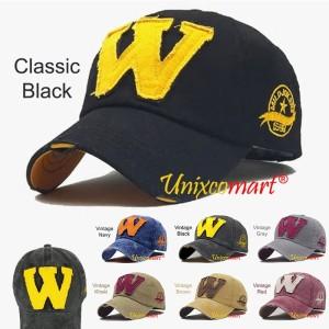Harga w logo jokers topi baseball hat cap casual sport distro vintage   classic | HARGALOKA.COM