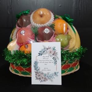 Harga parcel buah segar gratis print kartu ucapan kurir instant area | HARGALOKA.COM