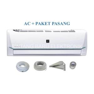 Harga paket pasang ac sharp 1 2 pk 1 2pk ah ap5ssy plasmacluster   HARGALOKA.COM