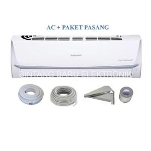 Harga ac sharp low watt 1 2pk 1 2 pk ah a5udl r32 paket   HARGALOKA.COM