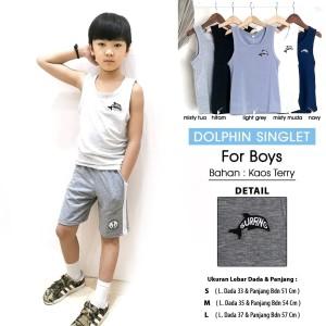 Harga remi singlet boy   dolphin baju kaos dalam singlet anak laki laki   s misty | HARGALOKA.COM