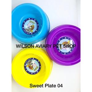 Harga tempat makan minum kucing anjing anti slip   sweet plate | HARGALOKA.COM