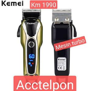 Harga kemei hair clipper km 1990 digital alat potong | HARGALOKA.COM