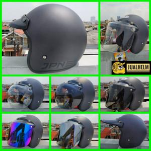 Harga helm retro bogo jpn retro arc original gunmetal vespa   pet   HARGALOKA.COM