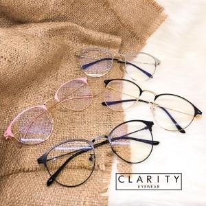 Harga frame kacamata korea fashion besi bulat minus anti radiasi cewek 0113   silver normal | HARGALOKA.COM