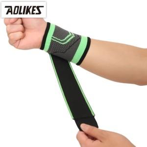 Harga aolikes 7537 wrist wrap support   sleeve deker pergelangan tangan   hijau   HARGALOKA.COM