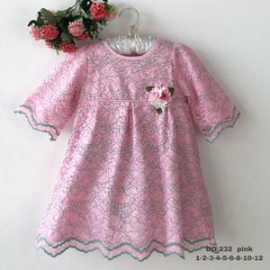 Harga 8 10 12 dress baju anak perempuan wanita kualitas export do 232 3   merah muda | HARGALOKA.COM
