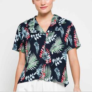 Harga garaf kemeja pastel hazel baju pantai wanita kemeja hawai cewek   | HARGALOKA.COM