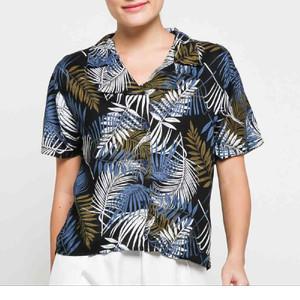 Harga garaf kemeja pastel royal baju pantai wanita kemeja hawai cewek   | HARGALOKA.COM