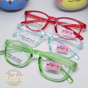 Harga kacamata anti radiasi anak kacamata anak 907 model kotak w   bening   biru | HARGALOKA.COM