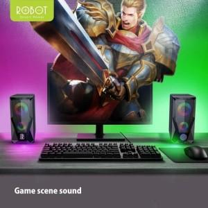Harga speaker aktif robot rs200 rbg gaming hd sound extra bass audio   HARGALOKA.COM
