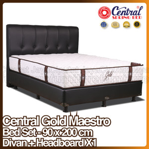 Harga spring bed central gold maestro   bed set headboard x1   90 x 200 | HARGALOKA.COM