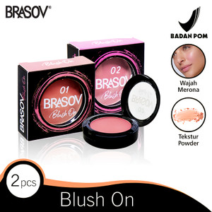 Harga brasov blush on shade 01 amp 02 2 pcs pigmented perona bibir bpom | HARGALOKA.COM