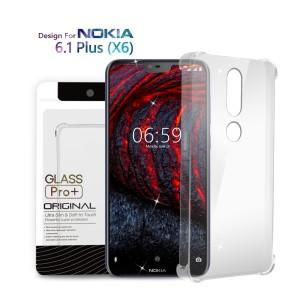 Harga premium soft case nokia 6 1 plus nokia x6   anti crack glass | HARGALOKA.COM