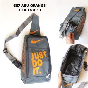 Harga tas sepatu nike 667 abu orange   tas olahraga murah | HARGALOKA.COM