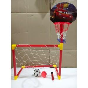 Harga mainan edukasi anak gawang sepakbola dan basket 2in1   olahraga | HARGALOKA.COM