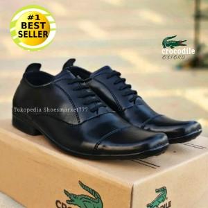 Harga sepatu pria pantofel hitam fashion formal kerja kulit asli swedian   hitam   HARGALOKA.COM