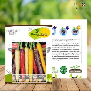 Harga benih bibit wortel rainbow blend haira seed | HARGALOKA.COM