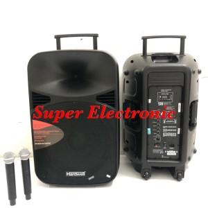 Harga speaker portable meeting hardwell 15 inc max 15 mhwr   HARGALOKA.COM