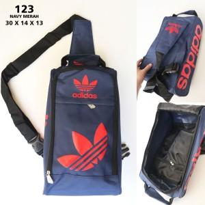 Harga tas sepatu pria adidas 123 murah   sport bag import | HARGALOKA.COM