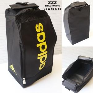 Harga tas sepatu adidas 222 hitam kuning   tas olahraga murah | HARGALOKA.COM