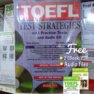 Harga barron 39 s toefl test strategies with practice tests and audio | HARGALOKA.COM