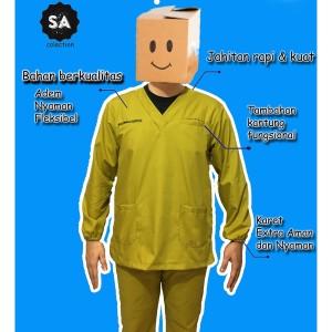 Harga baju oka baju ok baju jaga lengan pendek panjang baju scrub   l lengan | HARGALOKA.COM