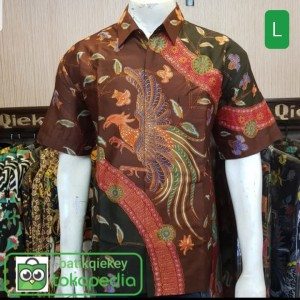 Harga baju kemeja batik pria lengan pendek batik tulis lukis motif z terbaru   sesuai gambar | HARGALOKA.COM