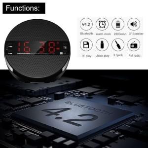 Harga speaker alarm clock alarm speaker usb bluetooth fm | HARGALOKA.COM