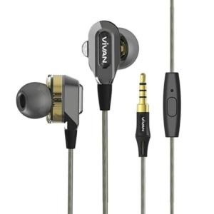 Harga earphone vivan ve d80 dual speaker wired | HARGALOKA.COM